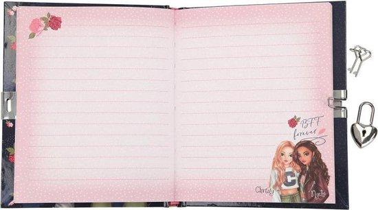 TopModel dagboek met slotje roze - TOPModel