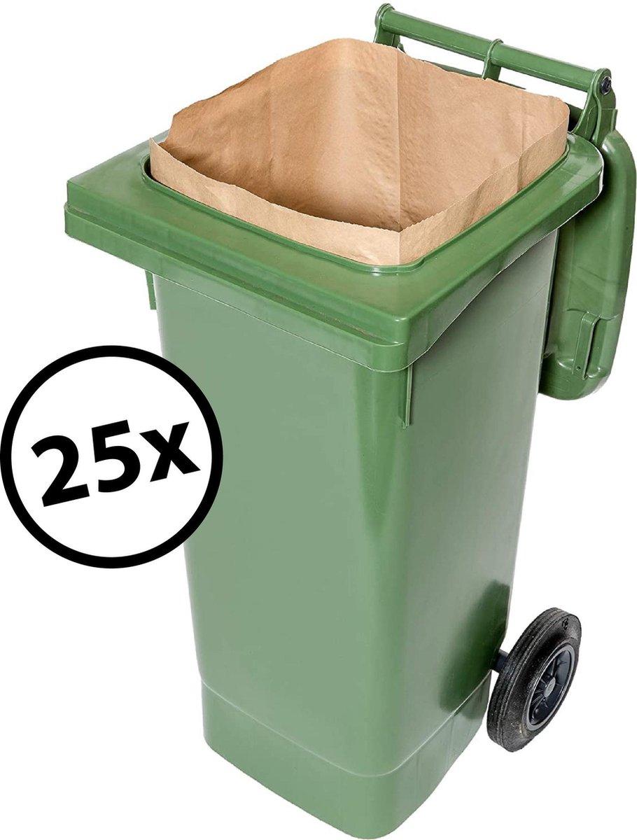 Biomat composteerbare papieren containerzakken 1 laags - 240 liter - 25 stuks