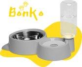 Bonko Automatische Voerbak Hond/Kat - Kattenbak - Grijs