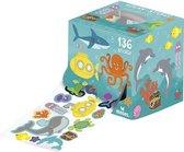 Uitdeel cadeautje 3 rollen met stickers van Ruimte, Oceaan en Dieren