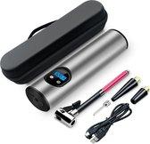 Draagbare mini luchtcompressor  - Elektrische lucht compressor - Elektrische bandenpomp - Digitaal - Olievrij - USB Oplaadbaar - Multifunctioneel - Zaklamp  - 10 Bar