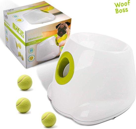 Woof Boss® Automatisch Ballenwerper voor Honden – Apporteerspeelgoed - Elektrisch – Ballenschieter - Dierenspeelgoed