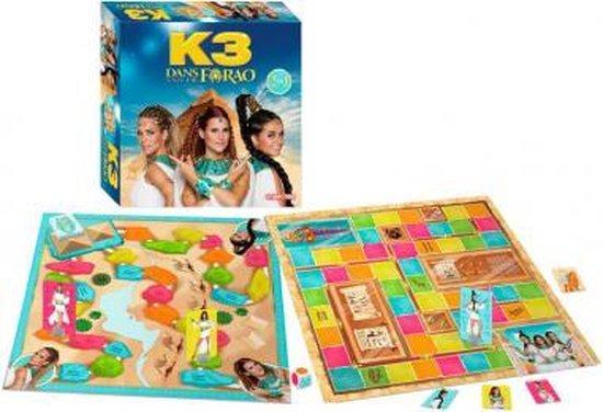 K3 - Bordspel - Dans van de Farao - bevat 2 spellen- het dobbelmuseum en de piramide - van de film K3 Dans van de Farao