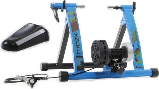 Fietstrainer-Rolbank TranzX JD-111Q blauw - 7 TRAININGSNIVEAUS!