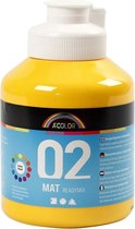 A-Color acrylverf. geel. 02 - matt. 500ml