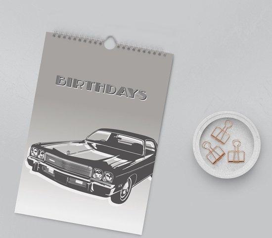 Editoo Vintage Cars - Verjaardagskalender - A4 - 13 pagina's