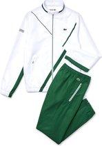 Lacoste Trainingspak - Maat XS  - Mannen - wit,groen