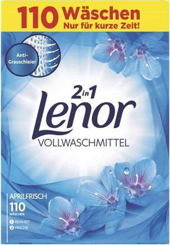 Lenor - 2in1 Waspoeder - Aprilfris - 7,5KG / 110 wasbeurten
