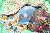 Earthastic Bijenwas Wraps - Premium Herbruikbare Bijenwas Doek - Cadeauverpakking van 3 - S, M, L - 100% natuurlijke en biologische beeswax wraps - Duurzaam Cadeau - Alternatief voor plastic vershoudfolie, boterhamzakjes, ziplock