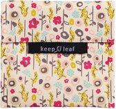 Keep Leaf Herbruikbaar boterhamzakje - Large - Bloom