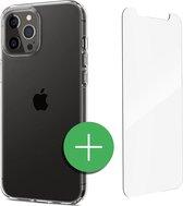 TORCE® iPhone 12 Pro Hoesje - Case Transparant + Gratis Glass Screenprotector