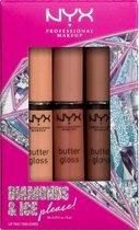 NYX Professional Makeup Butter Lip Gloss Trio 02 - Make-up geschenkset