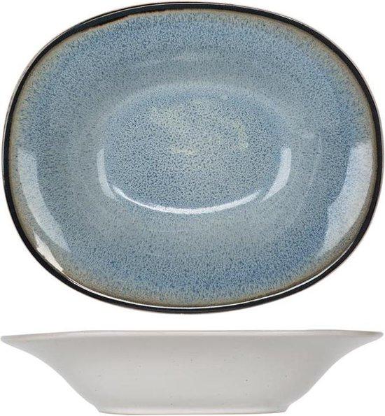 Cosy&Trendy Fez Diep Bord - Ovaal - Ø18 cm - 6 stuks - Blue