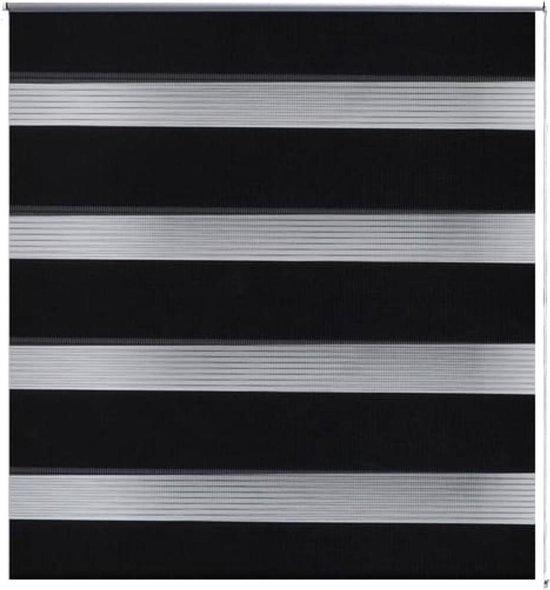 vidaXL - Rolgordijn (wonen) Duo - 40x100cm - zwart 240184