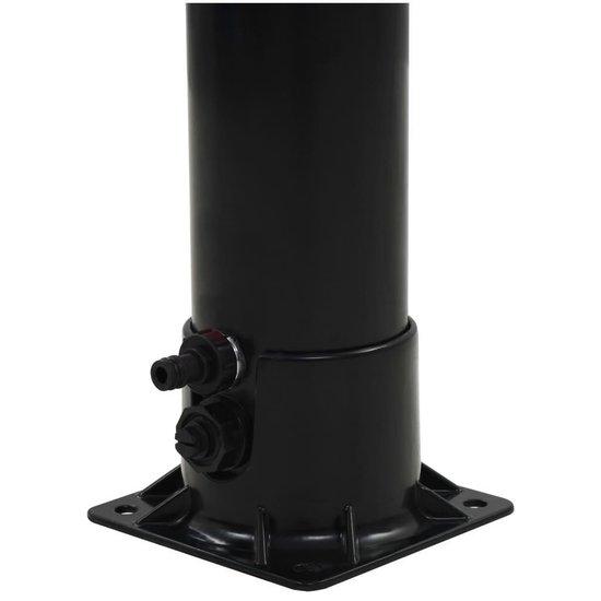 vidaXL Solar douche 18 L 214 cm zwart