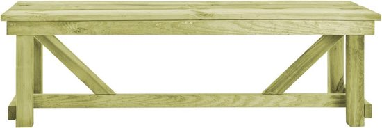 vidaXL Tuinbank 140 cm FSC geïmpregneerd grenenhout