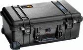 Peli 1510 Waterdichte Camerakoffer Zwart Flightcase Cameratrolley met Foam Interieur