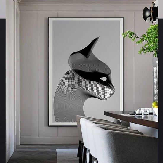 Wonderbaarlijk bol.com   Canvas Schilderij * Abstracte Gestreepte Kat * - Moderne EZ-92