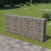 vidaXL Schanskorf muur met deksels 200x20x85 cm gegalvaniseerd staal