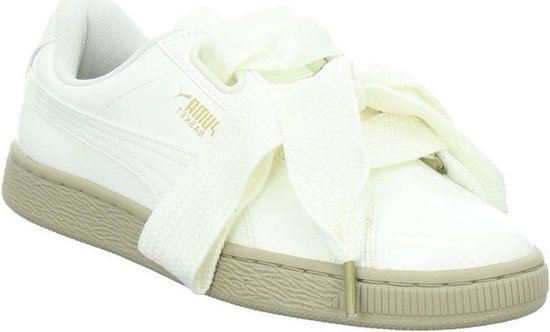 Puma - Dames Sneakers Basket Heart Patent Wn's - Wit - Maat 37