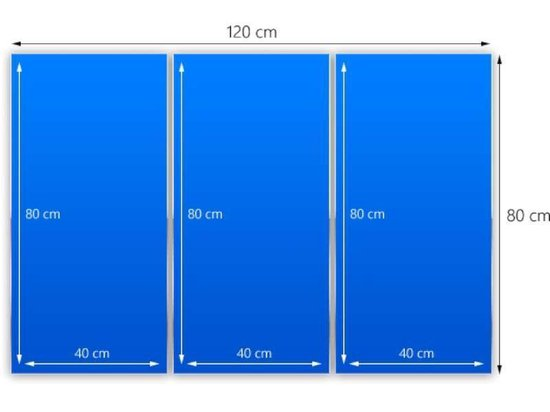Glasschilderij Roos | Rood, Zwart, Groen | 120x80cm 3Luik | Foto print op Glas |  F006148