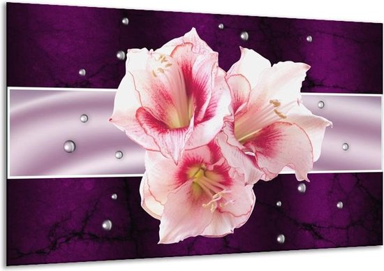 Canvas schilderij Tuin   Paars, Roze, Wit   120x70cm 1Luik