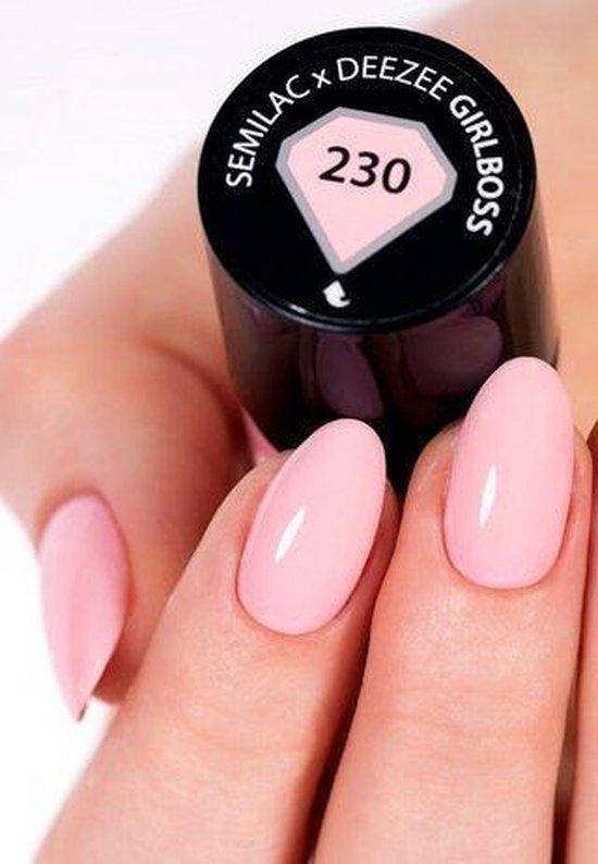 230 - Semilac Gel Nagellak - Gel polish - UV Hybrid - 230 Semilac X Deezee Girlboss- 7ml - Roze