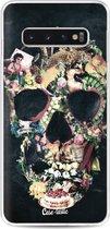 Samsung Galaxy S10 hoesje Vintage Skull Casetastic Smartphone Hoesje softcover case