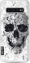 Samsung Galaxy S10 hoesje Doodle Skull BW Casetastic Smartphone Hoesje softcover case