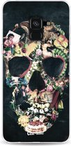Samsung Galaxy A8 (2018) hoesje Vintage Skull Casetastic Smartphone Hoesje softcover case