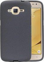 Wicked Narwal | Sand Look TPU Hoesje voor Samsung Galaxy J2 2016 J210F Grijs