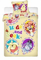Disney Winnie the Pooh Hide and Seek - Dekbedovertrek - Eenpersoons - 140 x 200 cm - Geel