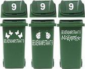 Voordeelset 6 x kliko / container sticker straatnaam & huisnr   Rosami