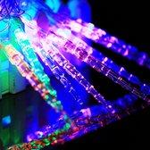 7m ijspegelhangers Decoratie Lichtslingers, 30-LED multi-gekleurd licht (AC 220V / EU stekker) (transparant)