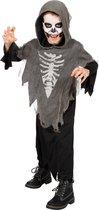 Spook & Skelet Kostuum | Hartverlammende Halloween Geest | Jongen | Maat 176 | Halloween | Verkleedkleding