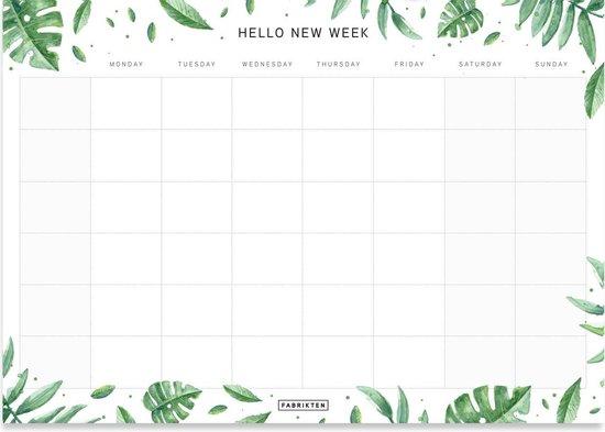 Afbeelding van Fabrikten Botanische Weekplanner - A4 - Groen