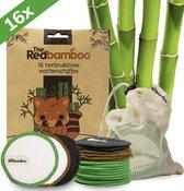 16 Herbruikbare Wattenschijfjes - Wasbare Watjes - Zero Waste - Duurzaam en Ecologisch - Make Up