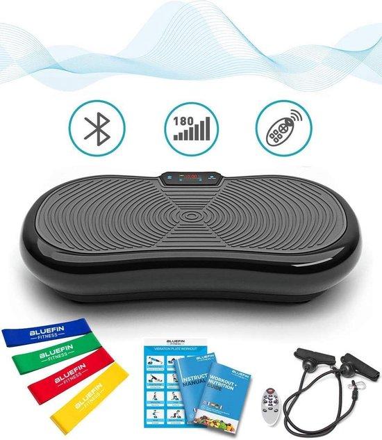 Bluefin Fitness Vibratietrainer | Trilplaat | Fitness | Bluetooth speaker | Afstandsbediening