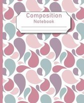Composition Notebook: Tear Drop Design Ruled College Note Paper