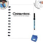 Whiteboard notitieblok / schrift  - Correctbook - A4 - Gelijnd - Wit