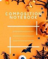 Composition Notebook: Halloween Pumpkin Happy Halloween Notebook