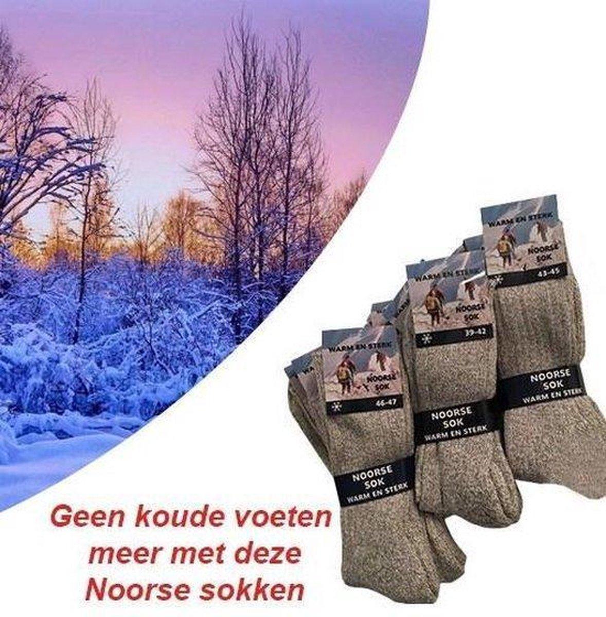 1 Paar Noorse Sokken Winter Sokken Maat 43-45 Unisex Maat 43-45 - Werksokken - Wollen Sokken - Geitenwollen Sokken
