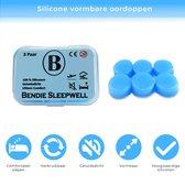 Bendie Sleepwell Plus Siliconen Oordoppen Slapen - Anti Snurk Earplugs - Gehoorbescherming - Vormbaar - 6 stuks