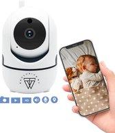 HD Wifi Babyfoon met Camera – Bewakingscamera – 720p - iOS/Android App – Wit
