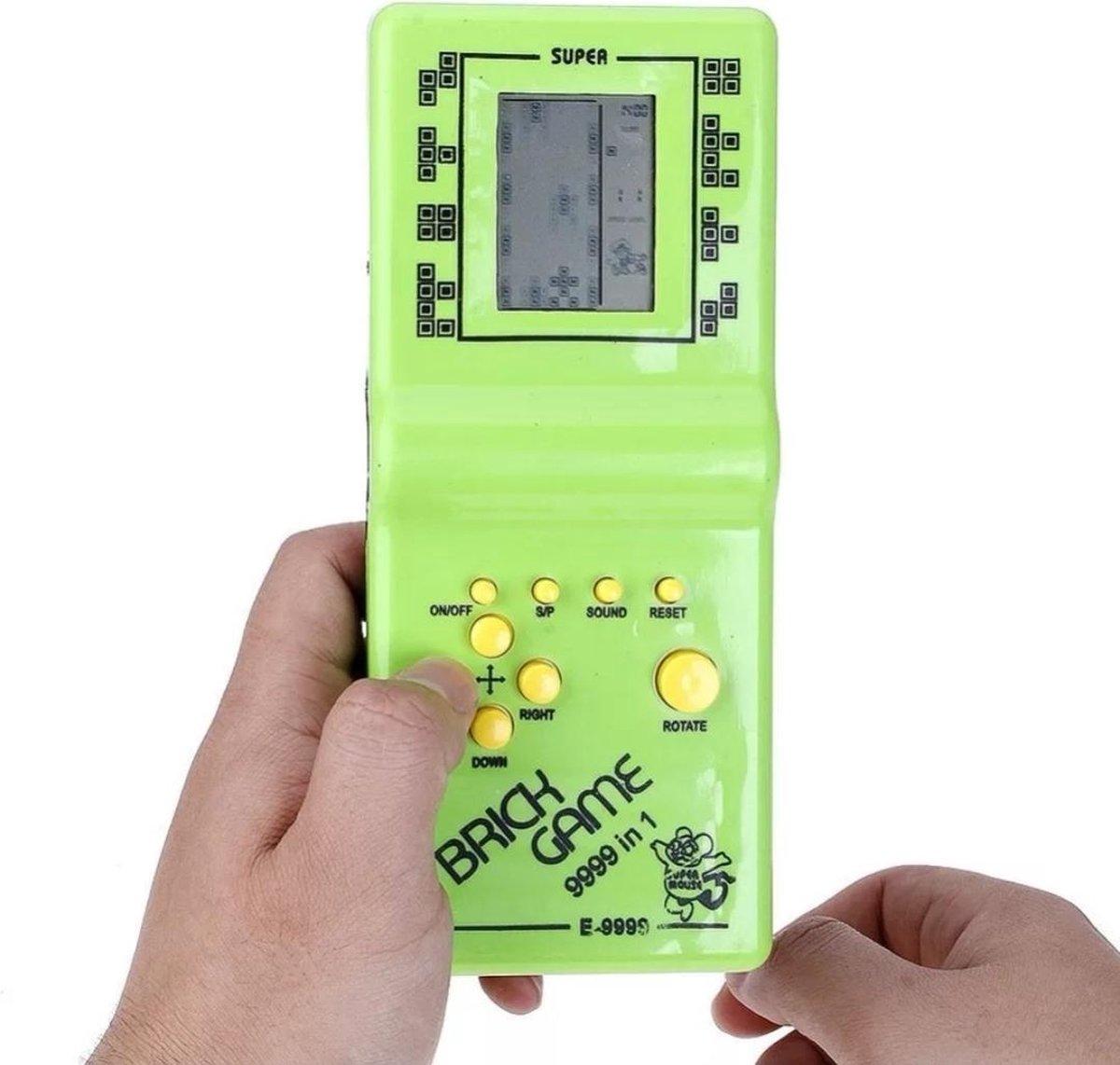 BBEC Toys Klassieke Tetris Spel Brick Game Handheld LCD Electronic Game Retro Groen