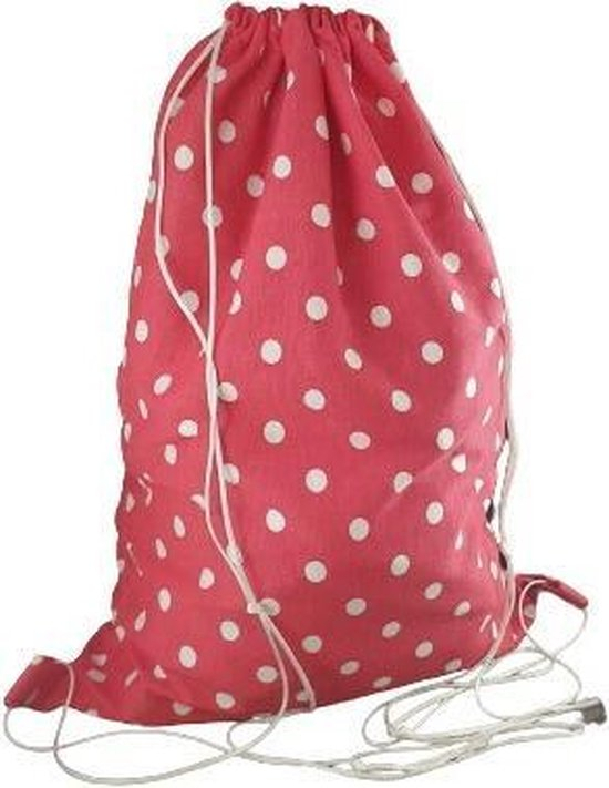 Waszak rugzakje - Jersey cotton - Red dots- 30x40 cm