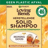 Garnier Loving Blends Solid Shampoo Bar Honing Goud - 1 stuk - Voor Beschadigd of Breekbaar haar