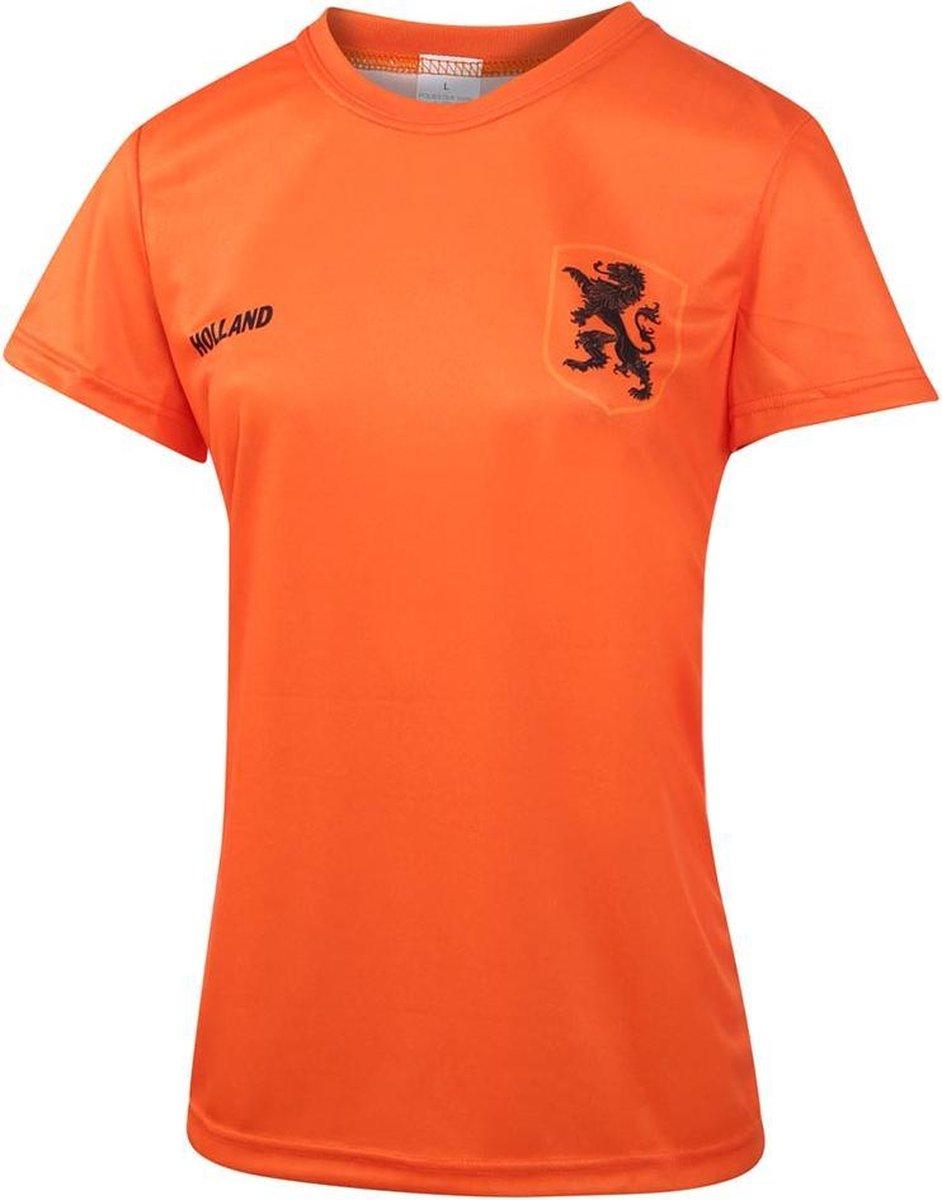 Nederlands Elftal Dames Voetbalshirt Thuis Blanco EK 2021 Meisjes-Vrouwen - Leeuwinnen-L