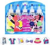 Nince TIE-DYE kit van hoge kwaliteit Kit 1- Complete kit van 5 kleuren textiel - Tie Dye set - Tie Dye verf premium kwaliteit