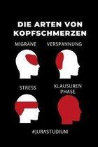 Die Arten Von Kopfschmerzen Migr�ne Verspannung Stress Klausuren Phase #jurastudium: 52 WOCHEN KALENDER f�r Anw�lte Juristen - Geschenkidee f�r Studen